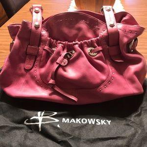 B Makowski Pocket Shopper in Pink Hibuscus